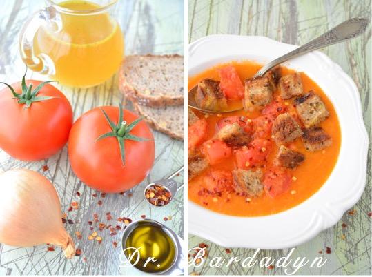 zupa pomidorowa, zupa ze świeżych pomidorów